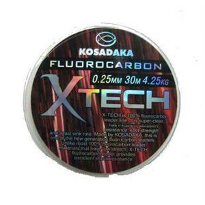Леска флюорокарбоновая X-TECH 30м 0,14 (Kosadaka)