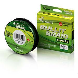 Плетеная леска Allvega Bullit Braid green 0,1 92 м