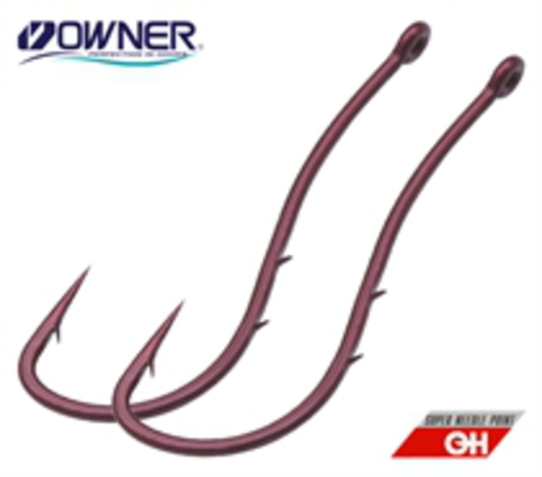 Крючки одинарные Owner WORM SP-BH 53118-08 в уп 7 шт