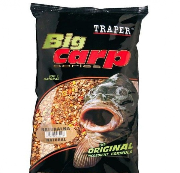 00086_Big Carp Natural (Натуральная) 1кг TRAPER