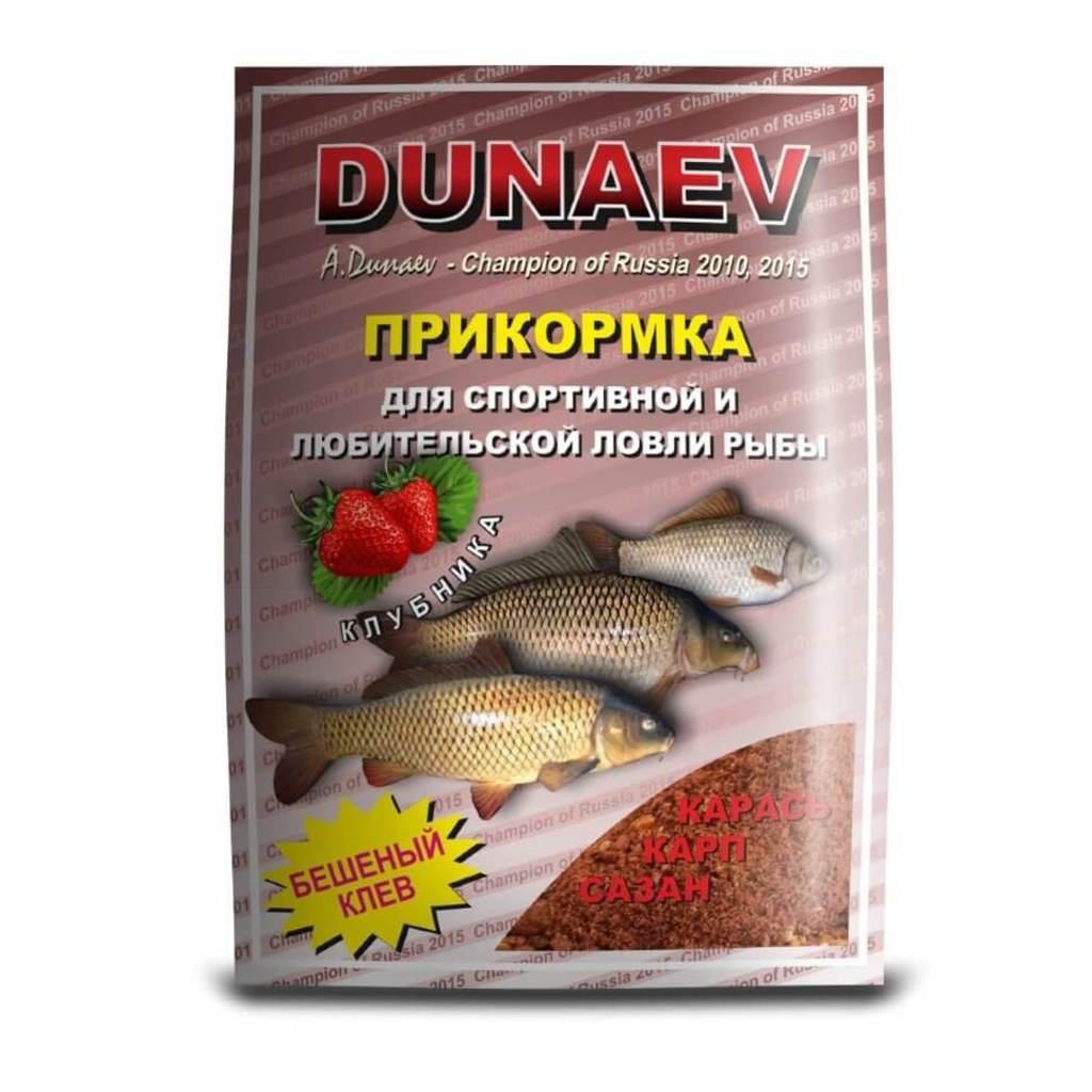 Прикормка DUNAEV СТАНДАРТ 0.9кг Карп Клубника